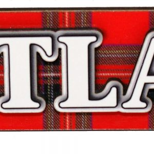 1578 scotland text on tartan 3d magnet